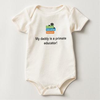 """""""私のお父さんです霊長目の教育者!""""は 幼児ボディスーツ ベビーボディスーツ"""