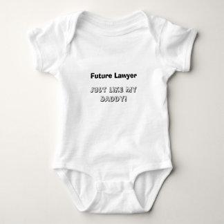 私のお父さんのような未来の弁護士、ちょうど! ベビーボディスーツ