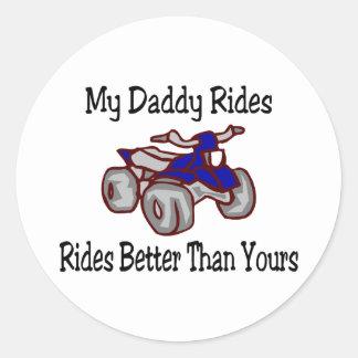 私のお父さんはあなたのよりよくクォードに乗ります ラウンドシール