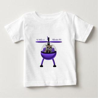 私のお父さんはヘリコプターのパイロットです ベビーTシャツ
