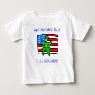 私のお父さんは米国の兵士です ベビーTシャツ