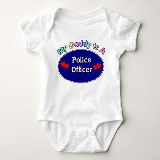 私のお父さんは警官です ベビーボディスーツ