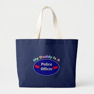 私のお父さんは警官です ラージトートバッグ