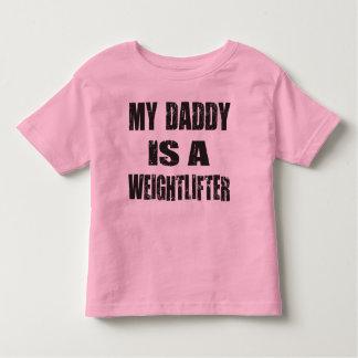 私のお父さんは重量挙げ選手です トドラーTシャツ