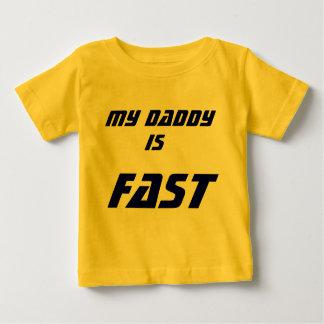 私のお父さんは、最も速いです! ベビーTシャツ