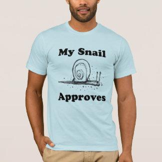 私のかたつむりは承認します Tシャツ