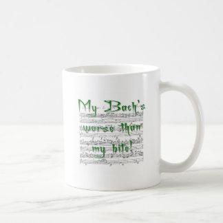 私のかみ傷より悪い私のBach! コーヒーマグカップ
