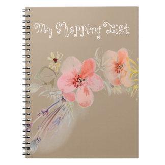私のかわいいショッピングの花のノート ノートブック