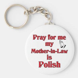 私のために祈って下さい義母はポーランドです キーホルダー