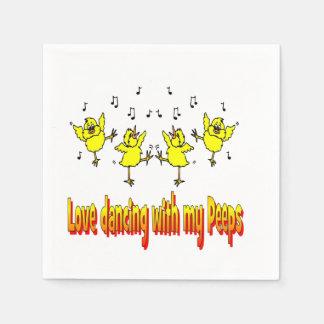 私ののぞき見のパーティのナプキンとの愛踊り スタンダードカクテルナプキン