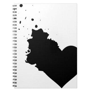 私のはね飛ばされたハートのノート ノートブック