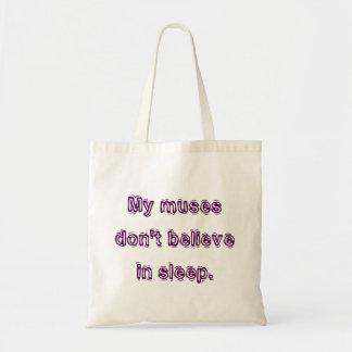 私のめい想は睡眠で信じません トートバッグ