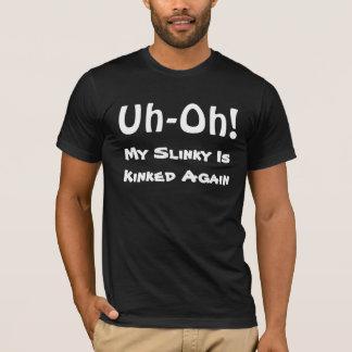 私のよじれさせたしなやかで優雅なワイシャツ Tシャツ