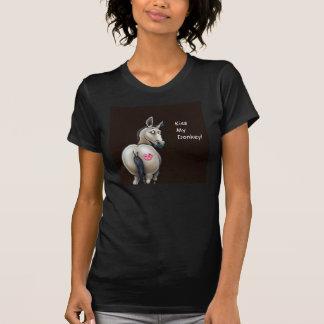 私のろばの女性Tシャツに接吻して下さい Tシャツ