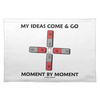 私のアイディアは時時4の磁石によって来ては去って行きます ランチョンマット