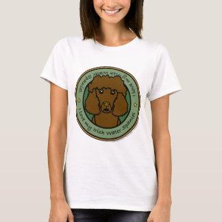 私のアイリッシュ・ウォーター・スパニエルを愛して下さい Tシャツ