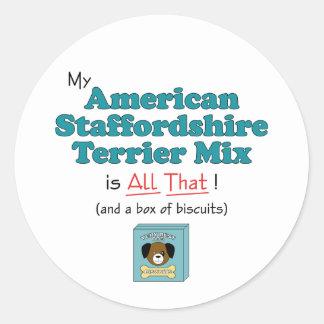 私のアメリカ(犬)スタッフォードテリアの組合せはすべてそれです! ラウンドシール