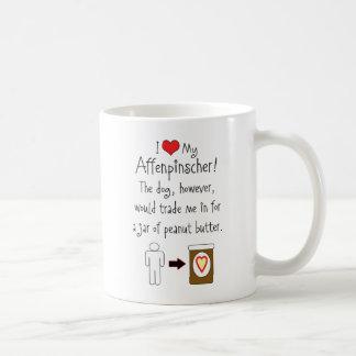 私のアーフェンピンシャーはピーナッツバターを愛します コーヒーマグカップ