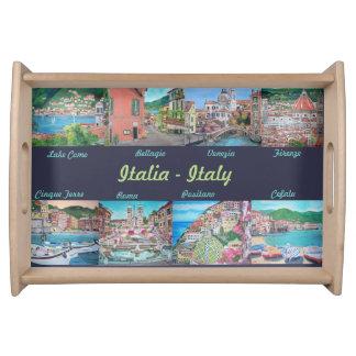 私のイタリア-小さいトレイ--を絵を描きます トレー