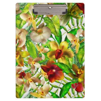私のエキゾチックな、熱帯蘭の花園 クリップボード