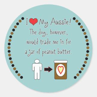 私のオーストラリア人はピーナッツバターを愛します ラウンドシール