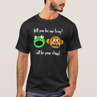 私のカエルですか。 (前部だけ、暗い) Tシャツ