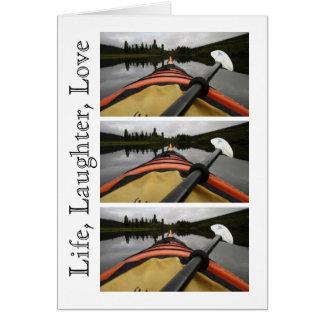 私のカヤックからの眺め; カスタマイズ可能 カード