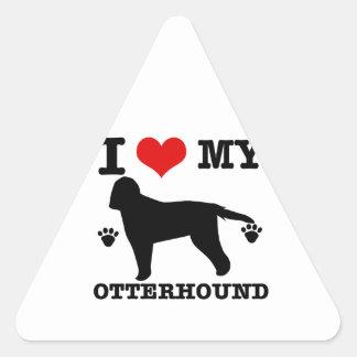 私のカワウソ猟犬を愛して下さい 三角形シール