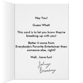"""""""私のカード""""を(破壊) -ジョニーのブロードウェイ買って下さい カード"""
