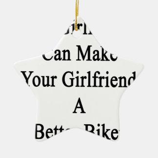 私のガールフレンドはあなたのガールフレンドによりよいBiをすることができます セラミックオーナメント