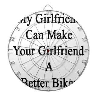 私のガールフレンドはあなたのガールフレンドによりよいBiをすることができます ダーツボード