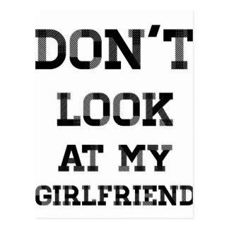 私のガールフレンドを見ないで下さい ポストカード