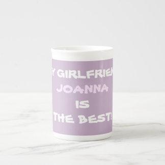 私のガールフレンドジョアナは最も最高のなマグです ボーンチャイナカップ