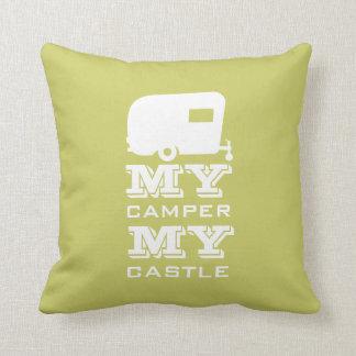 私のキャンピングカー私の城- RVのキャンプの枕 クッション