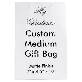 私のクリスマスのカスタムな中型のギフトバッグ(無光沢) ミディアムペーパーバッグ