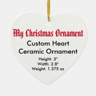 私のクリスマスのカスタムな陶磁器の平らなオーナメント(ハート) セラミックオーナメント