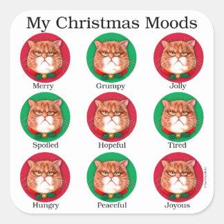 私のクリスマスの気分 スクエアシール