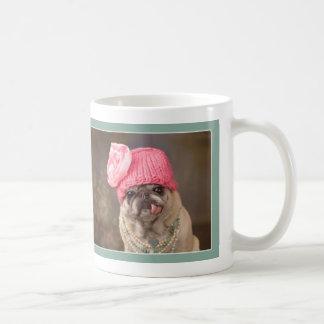 私のクローズアップのパグのマグの用意して下さい コーヒーマグカップ