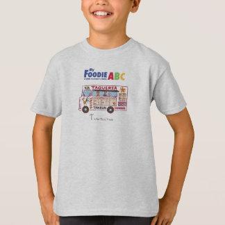私のグルメABC: 「T」はタコスのトラックのためです Tシャツ