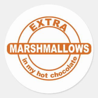 私のココアのステッカーの余分Marshallows ラウンドシール