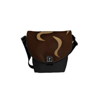 私のコップのコーヒー メッセンジャーバッグ