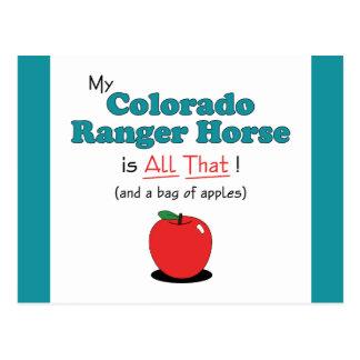 私のコロラド州のレーンジャーの馬はすべてそれです! おもしろいな馬 ポストカード