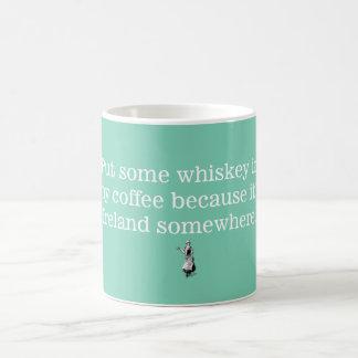 私のコーヒー2のウィスキー コーヒーマグカップ