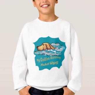 私のゴールデン・リトリーバーは波を作ります スウェットシャツ