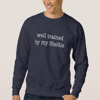 私のシェットランド・シープドッグによってよく訓練された スウェットシャツ