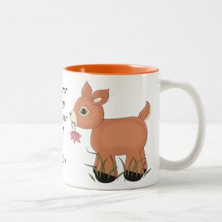 私のシカのコーヒー・マグ ツートーンマグカップ