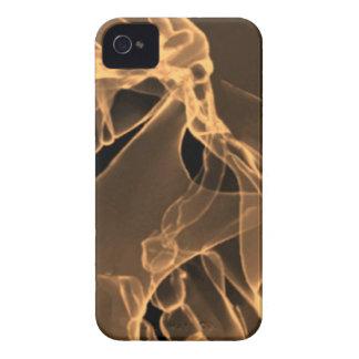 私のスカルのオレンジのX線撮影をして下さい Case-Mate iPhone 4 ケース