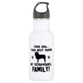 私のスキッパーキ家族、あなたの犬ちょうど親友 ウォーターボトル