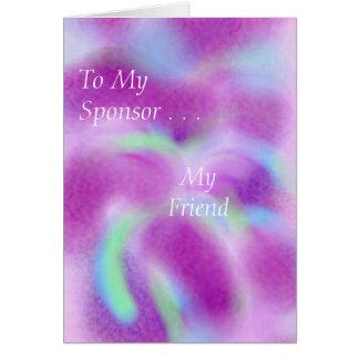 私のスポンサーのため カード