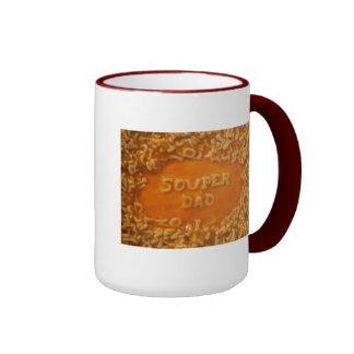 私のスープのメッセージ: パパのマグ リンガーマグカップ